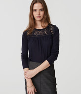 LOFT Lace Yoke Shirttail Tee