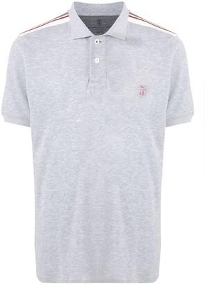 Brunello Cucinelli Stripe Detail Polo Shirt