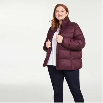 Joe Fresh Women+ Puffer Jacket with PrimaLoft, Burgundy (Size 2X)