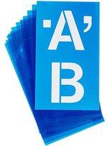 Acme Plastic Alphabet Stencils -Helvetica Capital Letters 4-inch