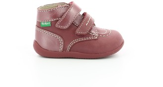 Kickers Kids' Bonkro Leather Ankle Boots with Touch 'n' Close Fastening