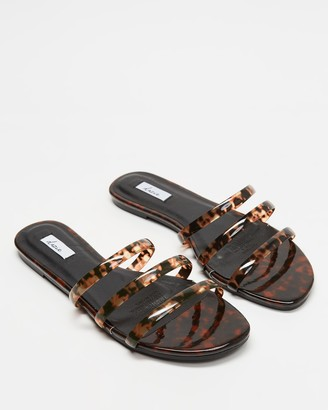 Dazie - Women's Brown Strappy sandals - Gina Slides - Size 10 at The Iconic