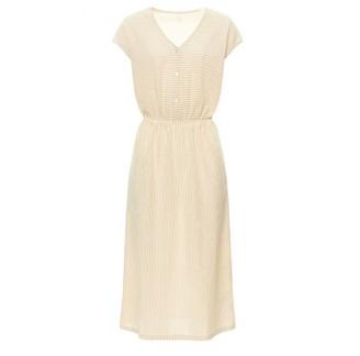 Des Petits Hauts Ecru Kacine Dress - XS .   cotton   ecru   beige - Ecru