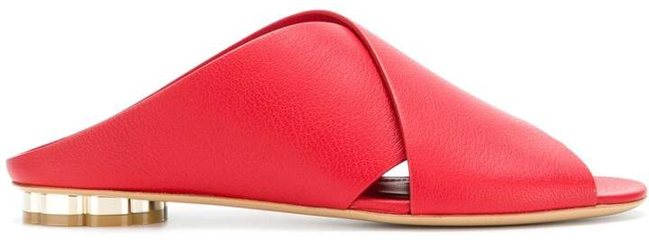 Salvatore Ferragamo crossover strap sandals