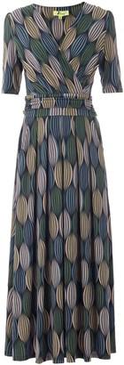 Wallis **Jolie Moi Green Abstract Print Maxi Dress