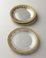 Arte Italica Four Vetro Gold Salad Plates