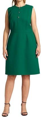 Lafayette 148 New York, Plus Size Alex Button-Front Wool Dress