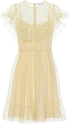 RED Valentino embellished tulle minidress
