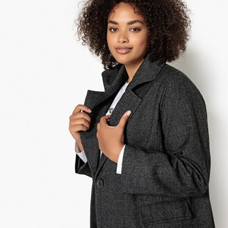 Castaluna Plus Size Mid-Length Tweed Coat