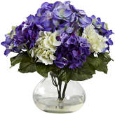 Asstd National Brand Nearly Natural Mixed Hydrangea with Vase