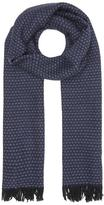 Nick Bronson Wool Check Scarf