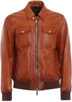 DSQUARED2 Aviator Leather Jacket