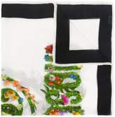 Moschino floral logo scarf
