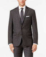 Ryan Seacrest Distinction Men's Slim-Fit Gray Windowpane Suit Jacket, Only at Macy's