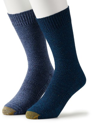 Gold Toe Men's GOLDTOE 2-pack Lodge Collection Nep Pique Crew Socks