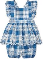 Ralph Lauren Plaid Cotton Shirt & Bloomer Set, Baby Girls (0-24 months)