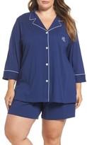 Lauren Ralph Lauren Plus Size Women's Notched Collar Pajamas