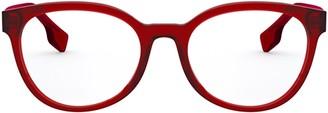 Burberry Eyewear Round Frame Glasses