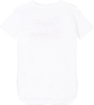 MC2 Saint Barth Portofino, Ciao Ciao Embroidered Linen T-shirt