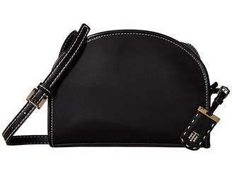 Tommy Hilfiger Julia Half Moon Crossbody (Black) Cross Body Handbags