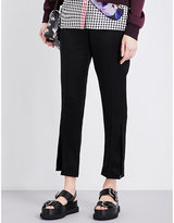 Christopher Kane Cropped mid-rise woven trousers