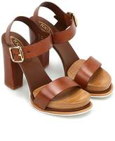 Tod's 18a Leather Platform Sandals