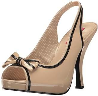 Pink Label Pleaser Women's Pinup10/Cr-b Platform Dress Sandal