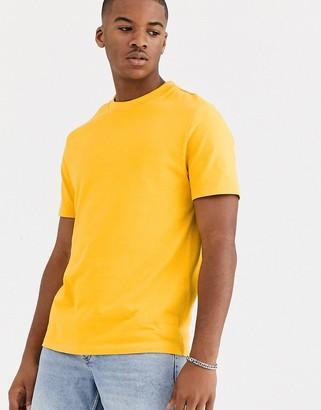 ASOS DESIGN organic heavyweight t-shirt with crew neck in yellow