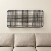 Crate & Barrel Tobacco Basket Metal Wall Art