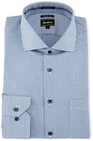 Neiman Marcus Trim-Fit Regular-Finish Check Dress Shirt, Blue
