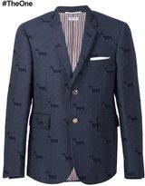 Thom Browne dog pattern blazer - men - Acrylic/Polyester/Wool - II