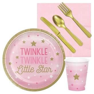 BuySeasons Twinkle Twinkle Little Star Pink Party Tableware Pack
