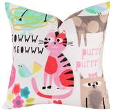 Crayola Purrty Cat Throw Pillow