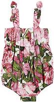 Dolce & Gabbana Rose-Print Cotton Poplin Romper
