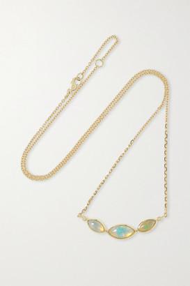 Brooke Gregson 18-karat Gold, Opal And Diamond Necklace