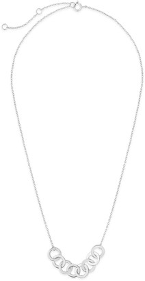 Sterling Forever Sterling Silver Linked Circles Necklace