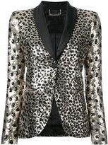 Philipp Plein leopard print jacket - women - Polyamide/Spandex/Elastane/Acetate/Viscose - S