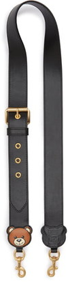 Moschino Teddy Calfskin Leather Handbag Strap