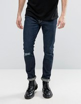 AllSaints Jeans in Skinny Fit with Knee Rips
