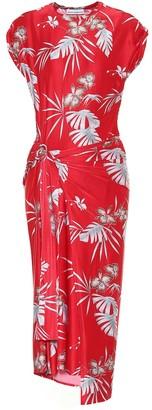 Paco Rabanne Printed jersey midi wrap dress