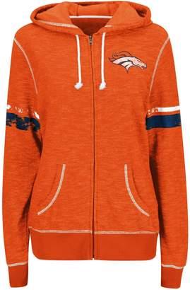 Majestic Women's Orange Denver Broncos Athletic Tradition Full-Zip Hoodie