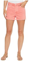J Brand Gracie High-Rise Shorts w/ Raw Hem in Glowing Blossom Women's Shorts