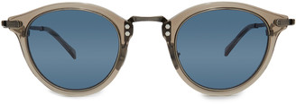 Mr. Leight Marmont S 48 Clear Acetate Round-Frame Sunglasses