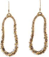 Alexis Bittar Crystal Wavy Drop Earrings