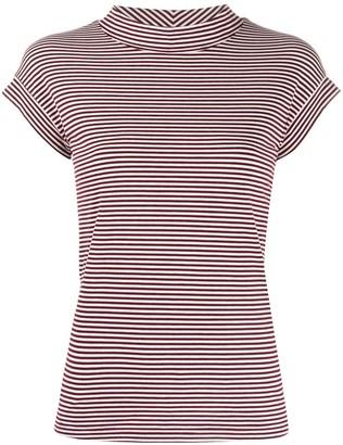 Aspesi mock neck striped T-shirt
