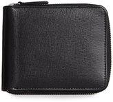 Royce Leather Italian Saffiano Zip Around Wallet with RFID Blocking Anti-Theft Technology