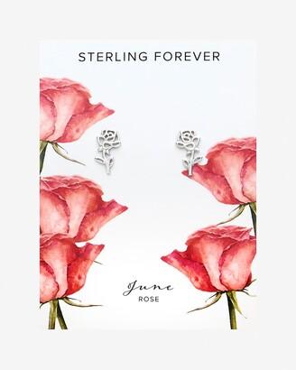 Express Sterling Forever June Birth Flower Stud Earrings