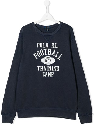Ralph Lauren Kids TEEN Football Training Camp sweatshirt