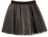 Aqua Girls' Layered Metallic Tulle Skirt , Sizes S-XL - 100% Exclusive