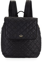 Kate Spade Torrence Quilted Nylon Baby Backpack, Black